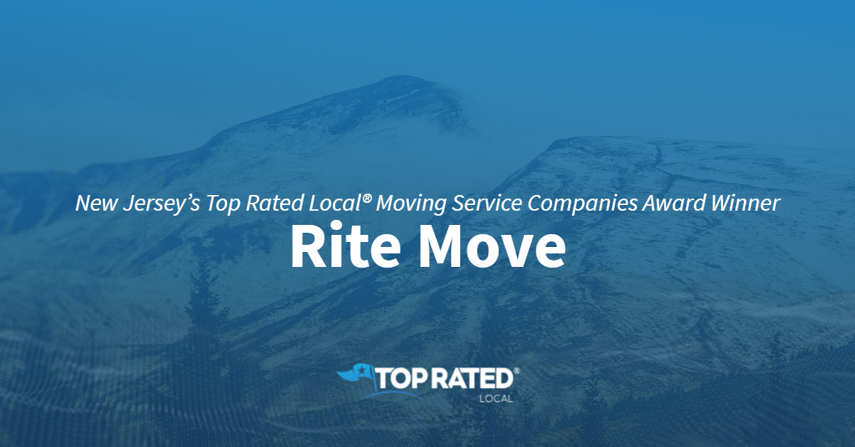New Jersey's Top Rated Local® Moving Service Companies Award Winner: Rite Move