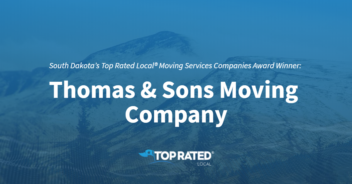 South Dakota's Top Rated Local® Moving Services Companies Award Winner: Thomas & Sons Moving Company