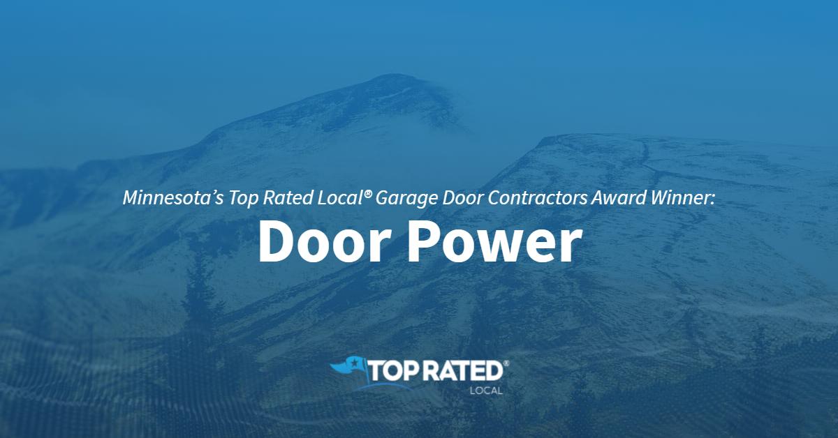 Minnesota's Top Rated Local® Garage Door Contractors Award Winner: Door Power