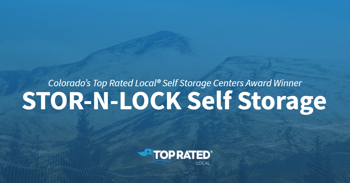 Colorado's Top Rated Local® Self Storage Centers Award Winner: STOR-N-LOCK Self Storage