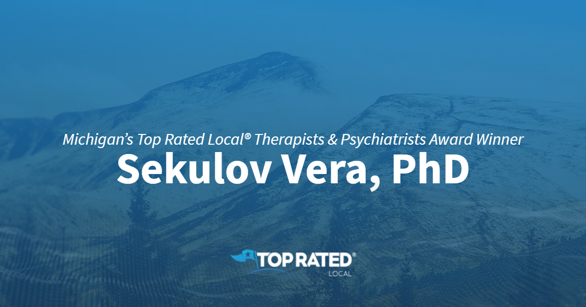 Michigan's Top Rated Local® Therapists & Psychiatrists Award Winner: Sekulov Vera, PhD