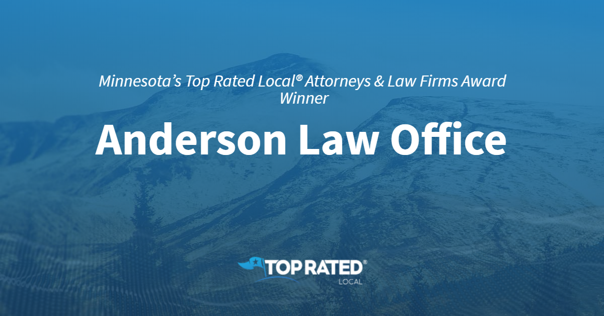 Minnesota's Top Rated Local® Attorneys & Law Firms Award Winner: Anderson Law Office