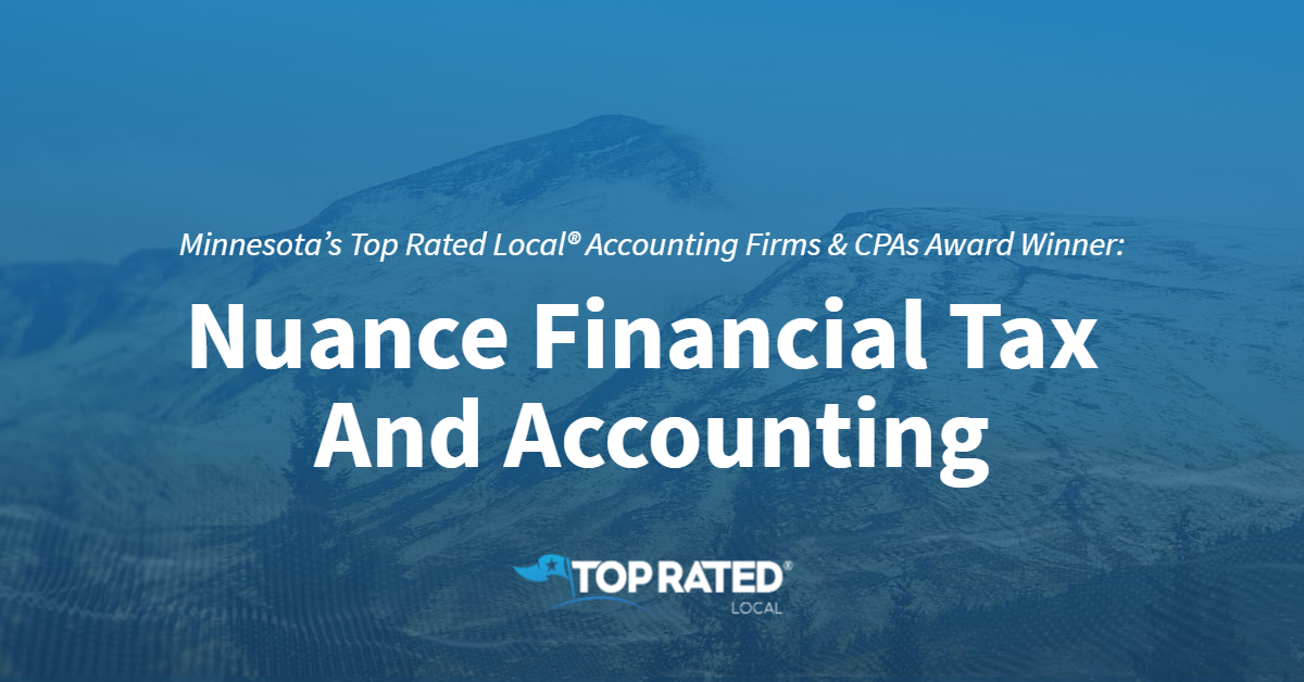Minnesota's Top Rated Local® Accounting Firms & CPAs Award Winner: Nuance Financial Tax And Accounting