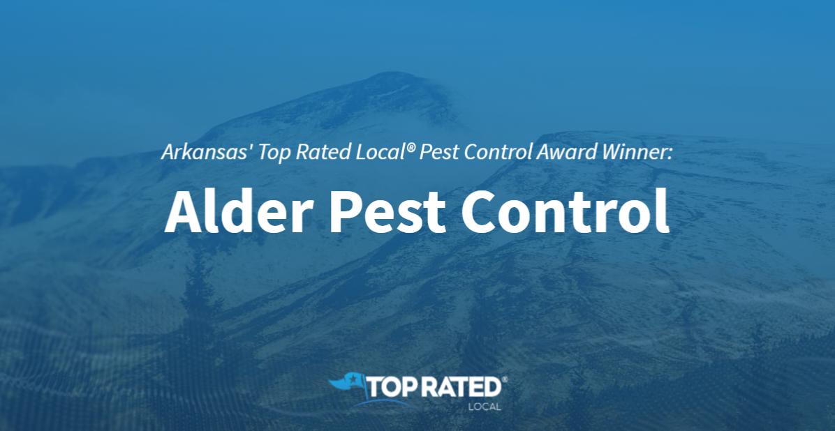 Arkansas' Top Rated Local® Pest Control Companies Award Winner: Alder Pest Control