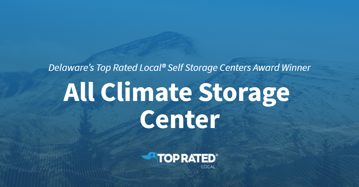 Delaware's Top Rated Local® Self Storage Centers Award Winner: All Climate Storage Center