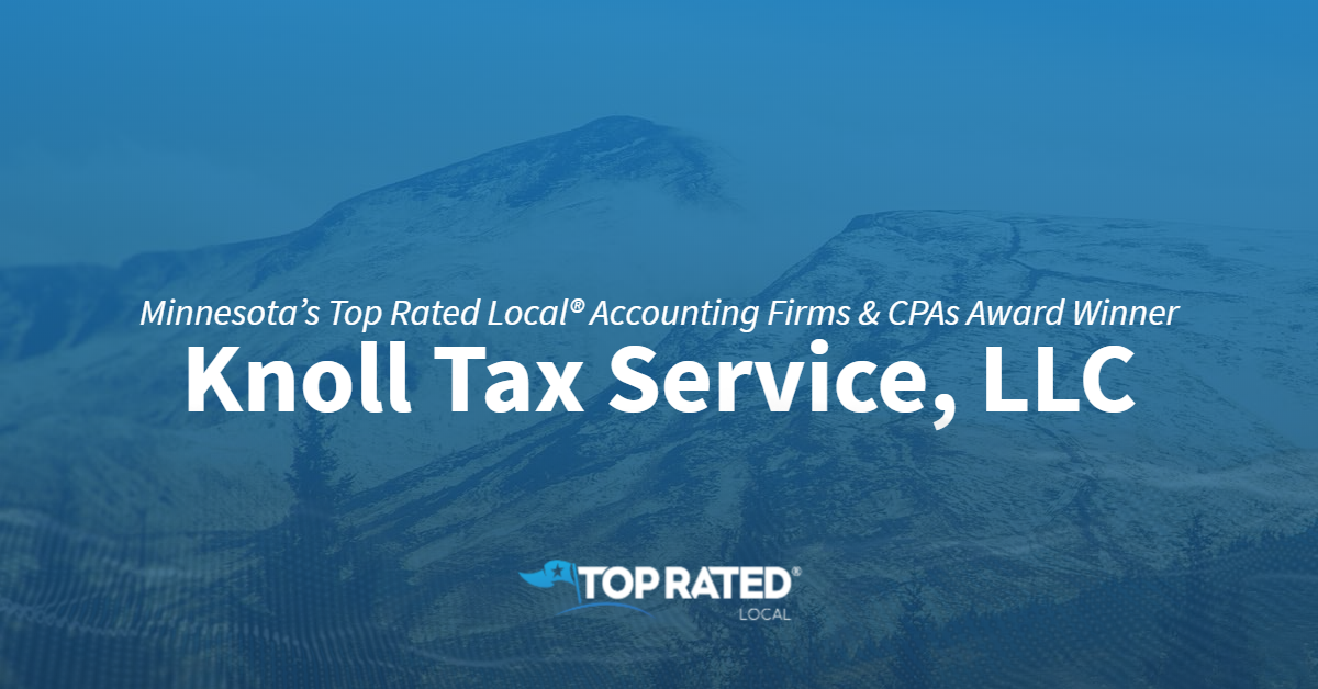 Minnesota's Top Rated Local® Accounting Firms & CPAs Award Winner: Knoll Tax Service, LLC