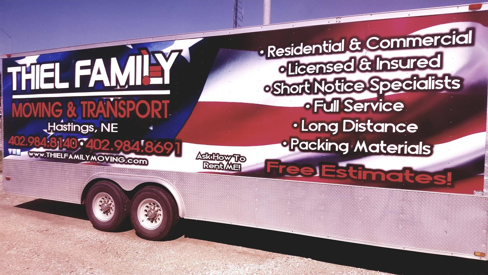 Nebraska's Top Rated Local® Moving Service Companies Award Winner: Thiel Family Moving & Transport