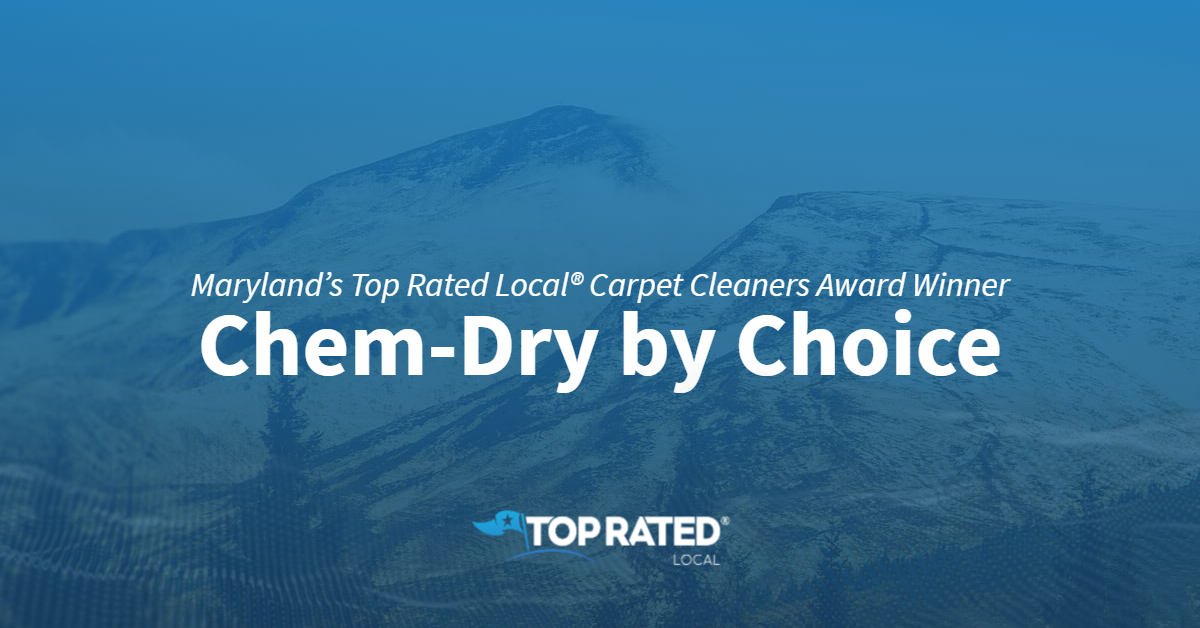 Maryland's Top Rated Local® Carpet Cleaners Award Winner: Chem-Dry by Choice