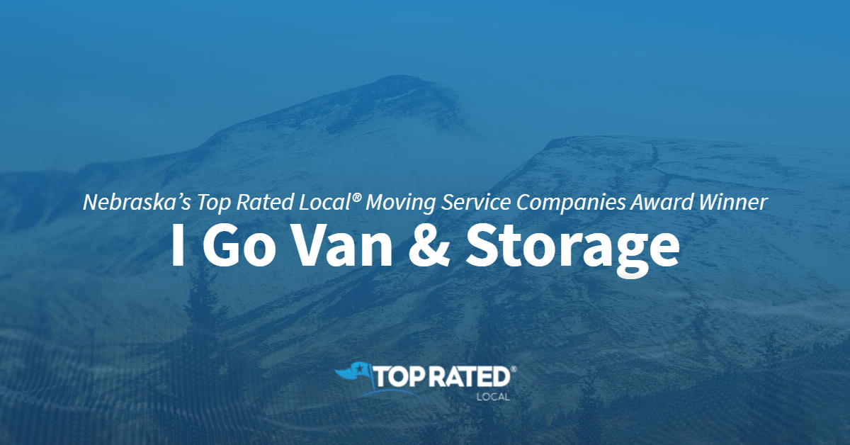 Nebraska's Top Rated Local® Moving Service Companies Award Winner: I Go Van & Storage