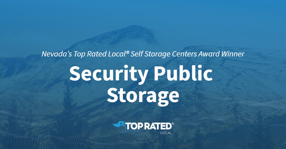 Nevada's Top Rated Local® Self Storage Centers Award Winner: Security Public Storage