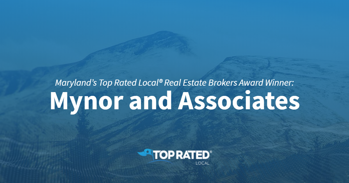 Maryland's Top Rated Local® Real Estate Brokers Award Winner: Mynor and Associates