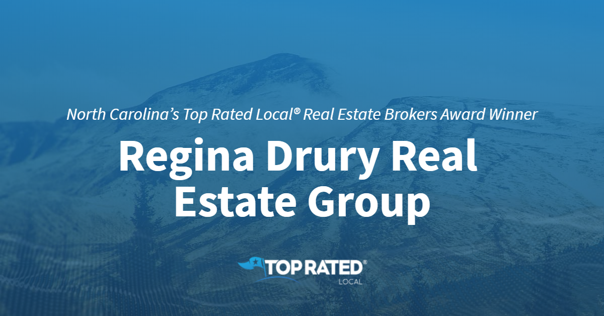 North Carolina's Top Rated Local® Real Estate Brokers Award Winner: Regina Drury Real Estate Group