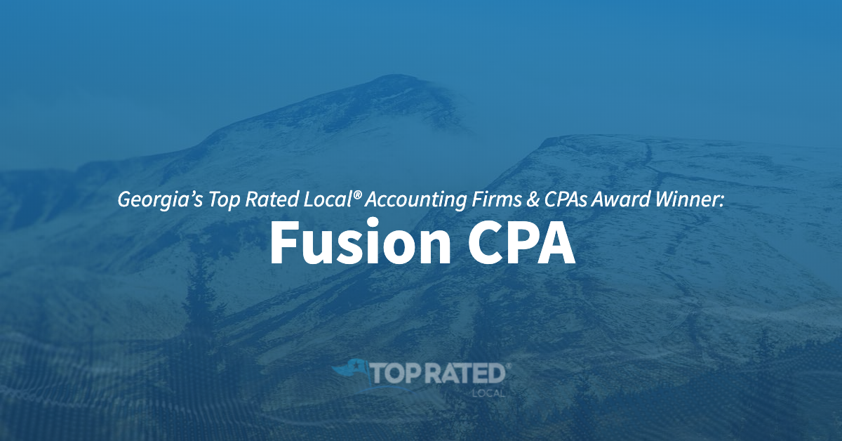 Georgia's Top Rated Local® Accounting Firms & CPAs Award Winner: Fusion CPA