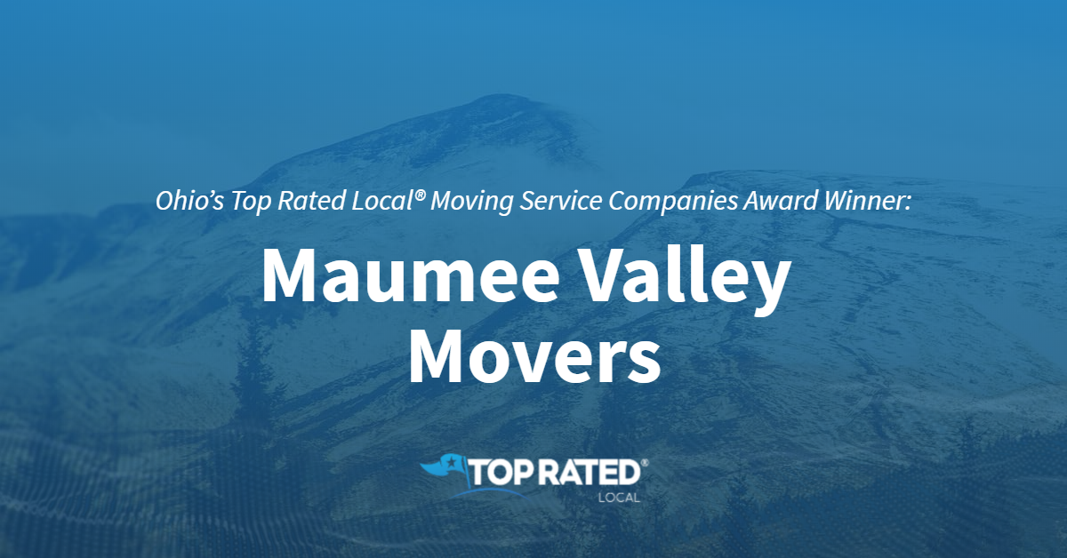 Ohio's Top Rated Local® Moving Service Companies Award Winner: Maumee Valley Movers