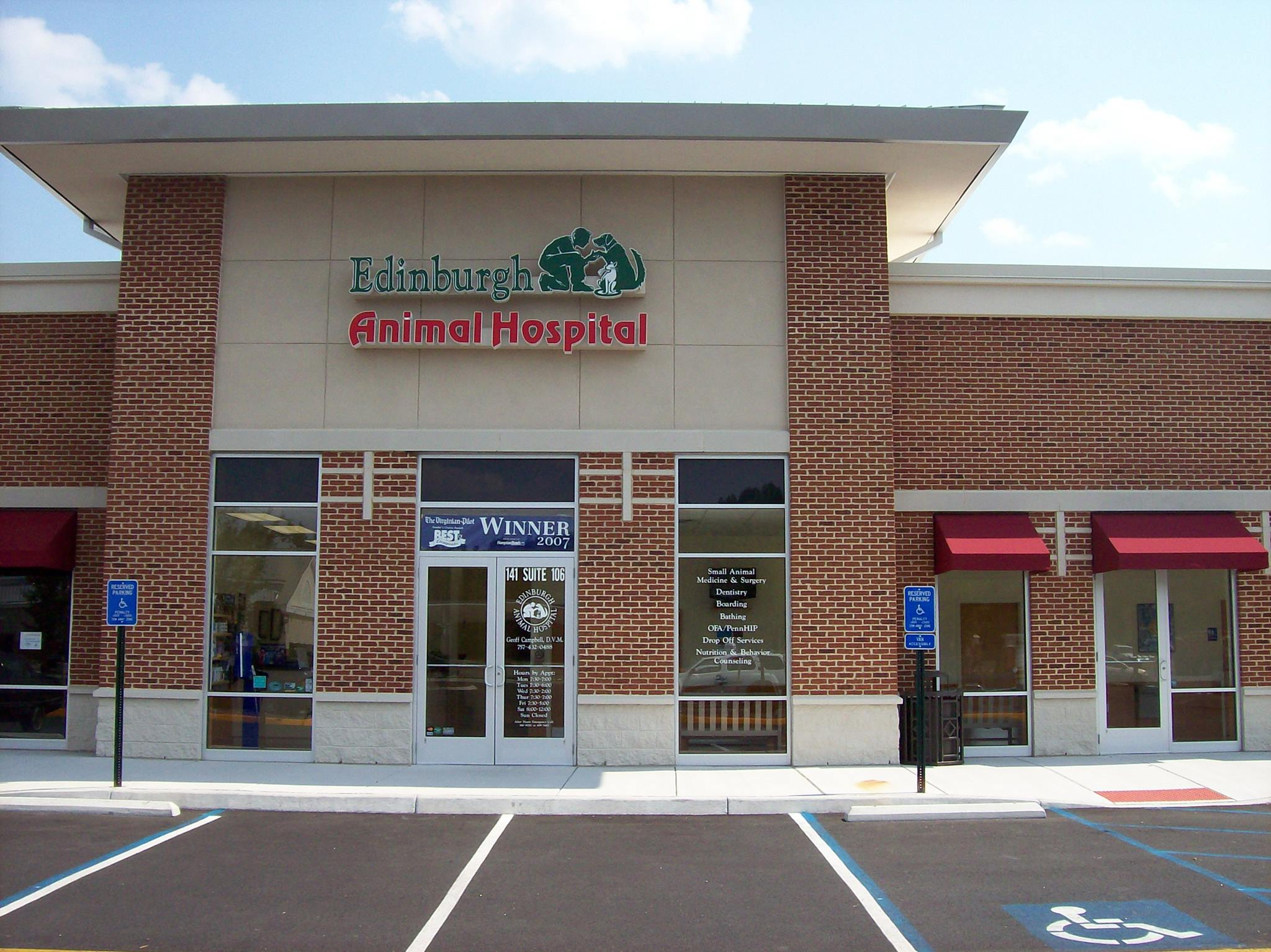 Virginia's Top Rated Local® Veterinarians Award Winner: Edinburgh Animal Hospital