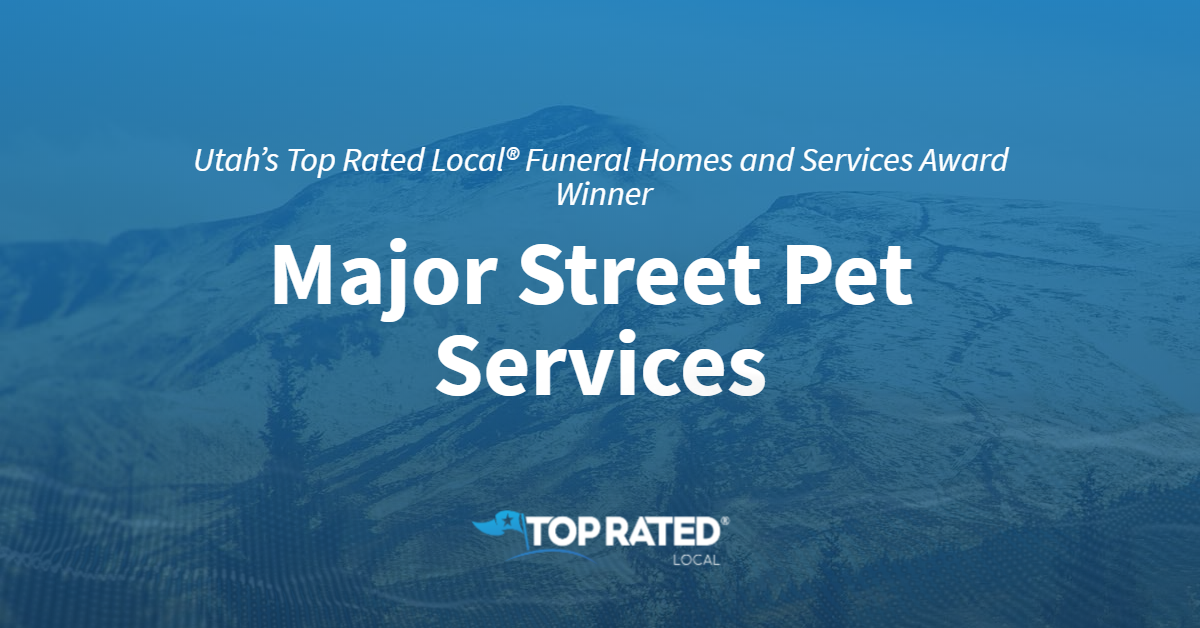 Utah's Top Rated Local® Funeral Homes and Services Award Winner: Major Street Pet Services