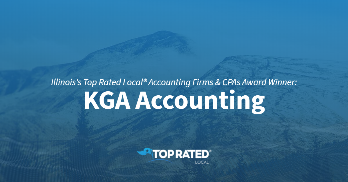 Illinois's Top Rated Local® Accounting Firms & CPAs Award Winner: KGA Accounting