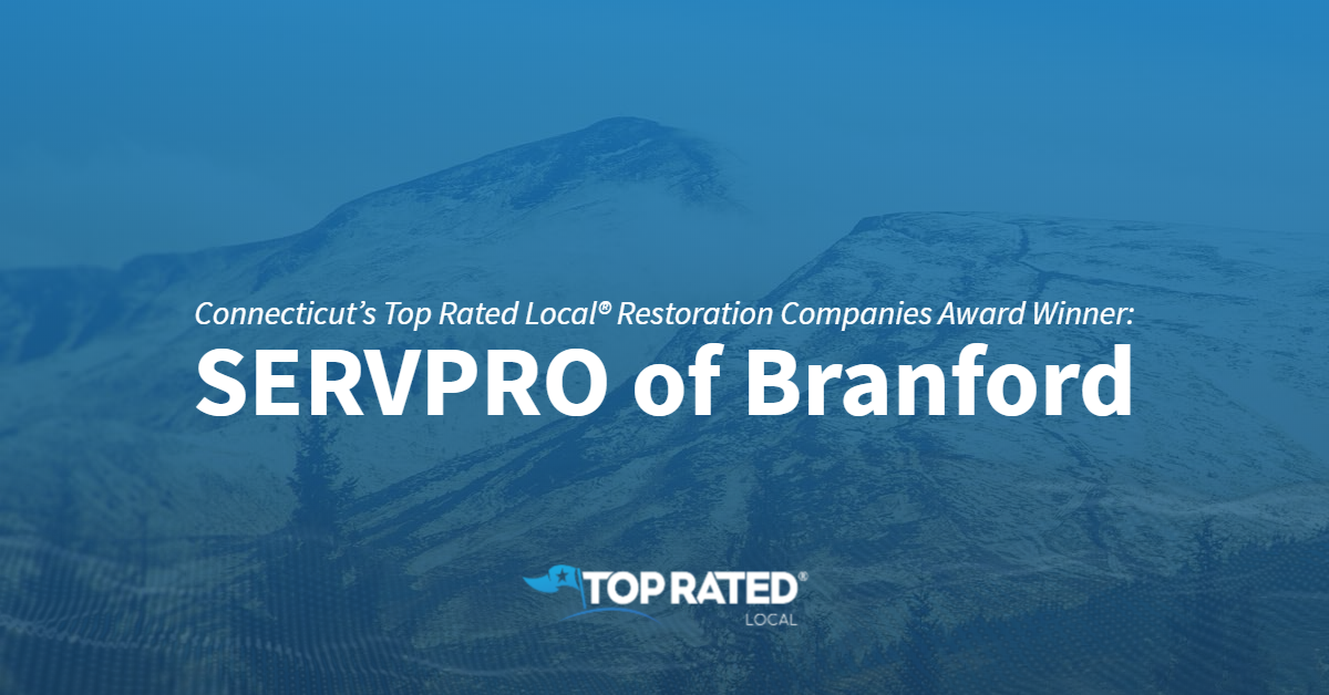 Connecticut's Top Rated Local® Restoration Companies Award Winner: SERVPRO of Branford