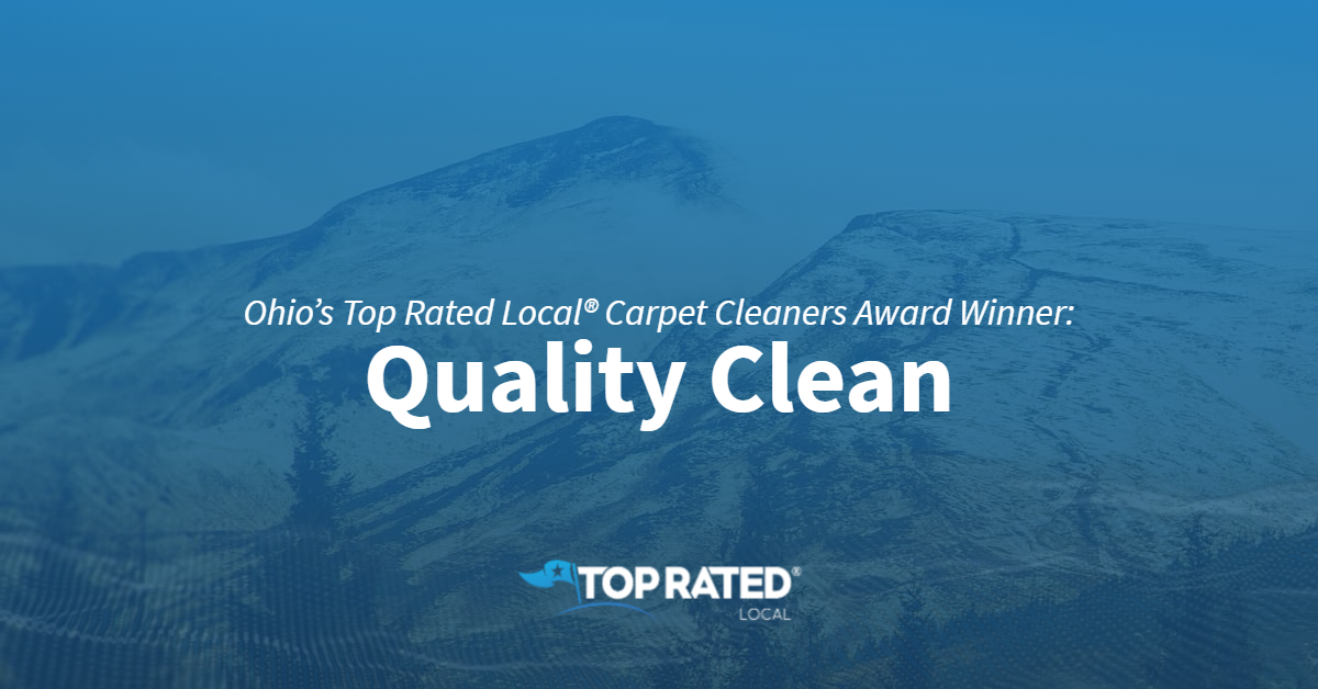 Ohio's Top Rated Local® Carpet Cleaners Award Winner: Quality Clean