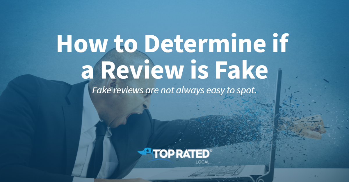 How to Determine if a Review is Fake