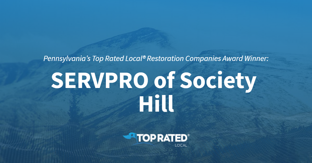 Pennsylvania's Top Rated Local® Restoration Companies Award Winner: SERVPRO of Society Hill