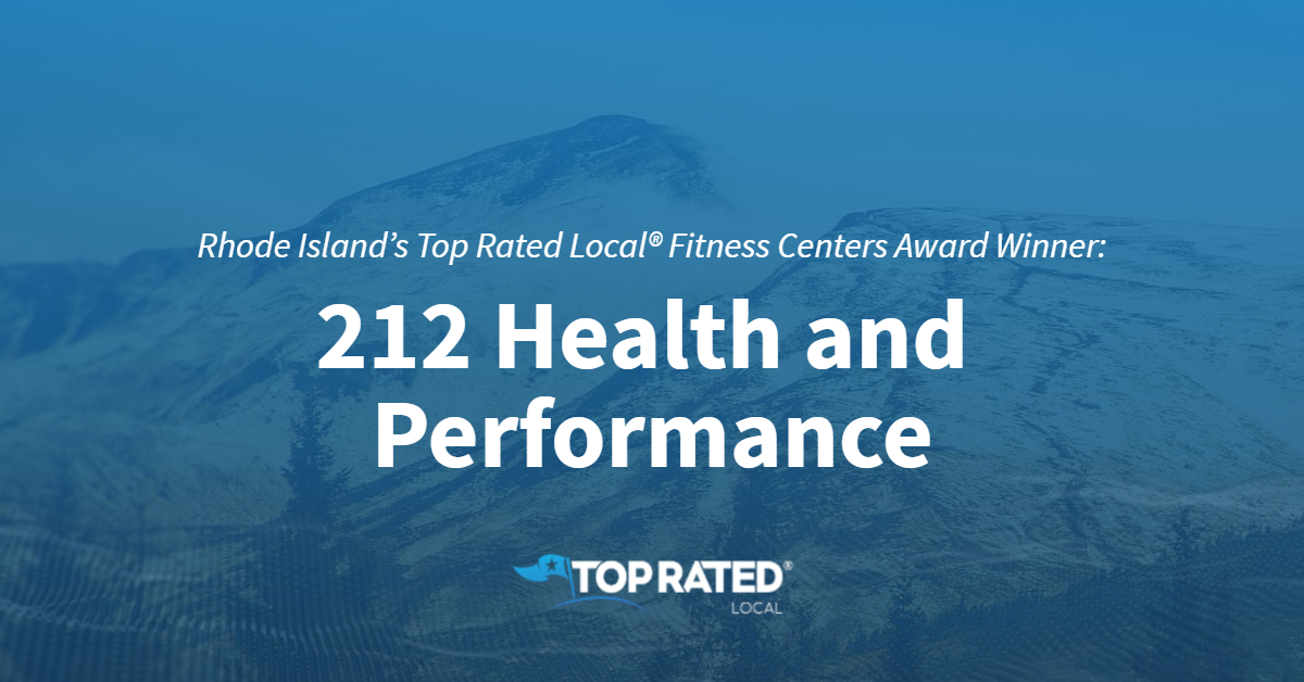 Rhode Island's Top Rated Local® Fitness Centers Award Winner: 212 Health & Performance