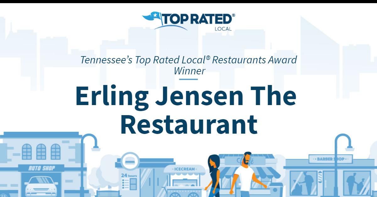 Tennessee's Top Rated Local® Restaurants Award Winner: Erling Jensen The Restaurant
