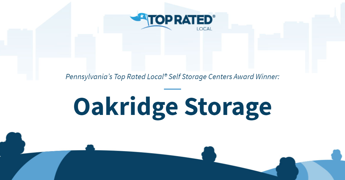 Pennsylvania's Top Rated Local® Self Storage Centers Award Winner: Oakridge Storage