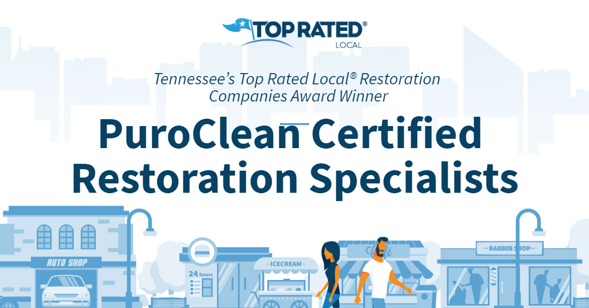 Tennessee's Top Rated Local® Restoration Companies Award Winner: PuroClean Certified Restoration Specialists
