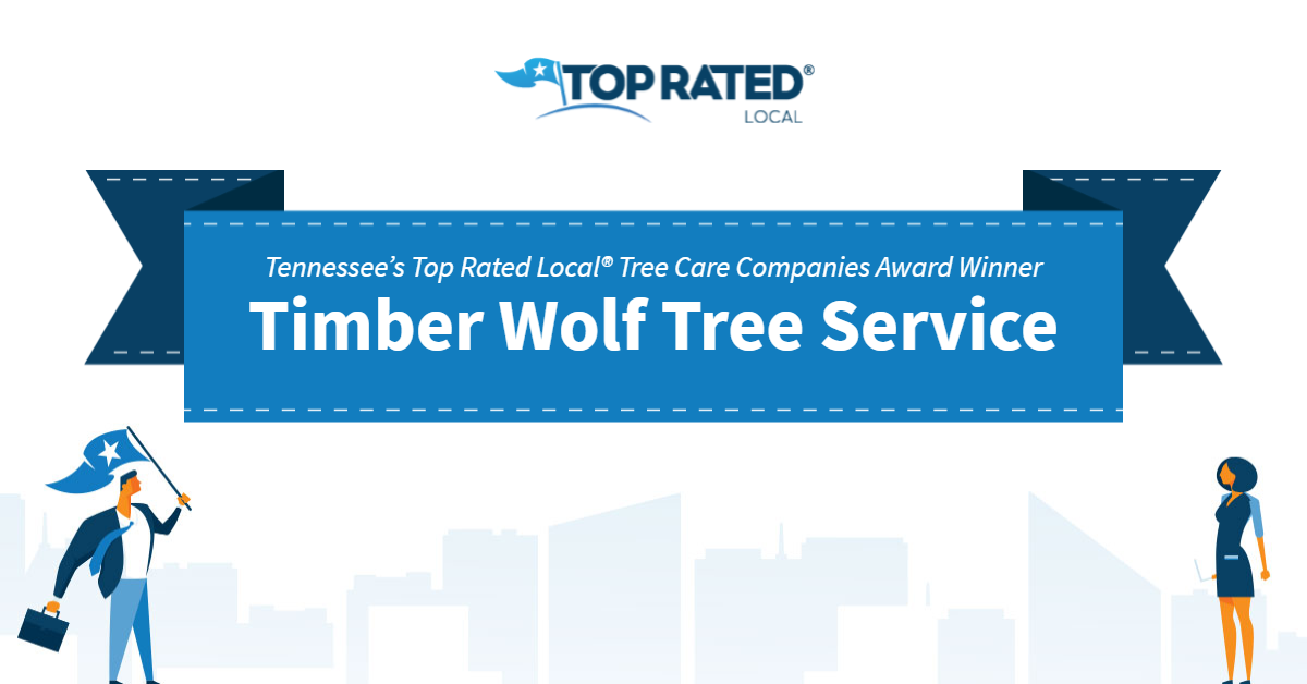 Tennessee's Top Rated Local® Tree Care Companies Award Winner: Timber Wolf Tree Service