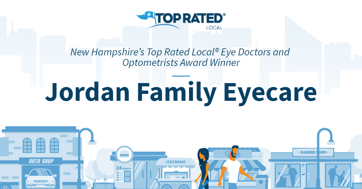 New Hampshire's Top Rated Local® Eye Doctors and Optometrists Award Winner: Jordan Family Eyecare