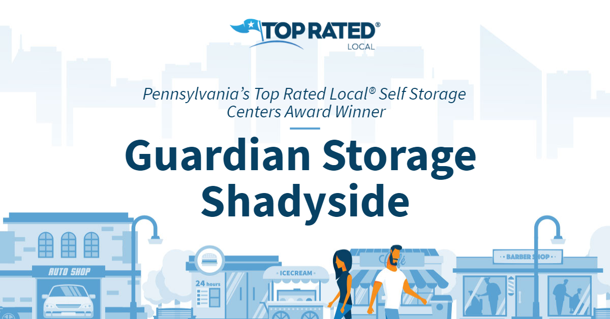 Pennsylvania's Top Rated Local® Self Storage Centers Award Winner: Guardian Storage Shadyside