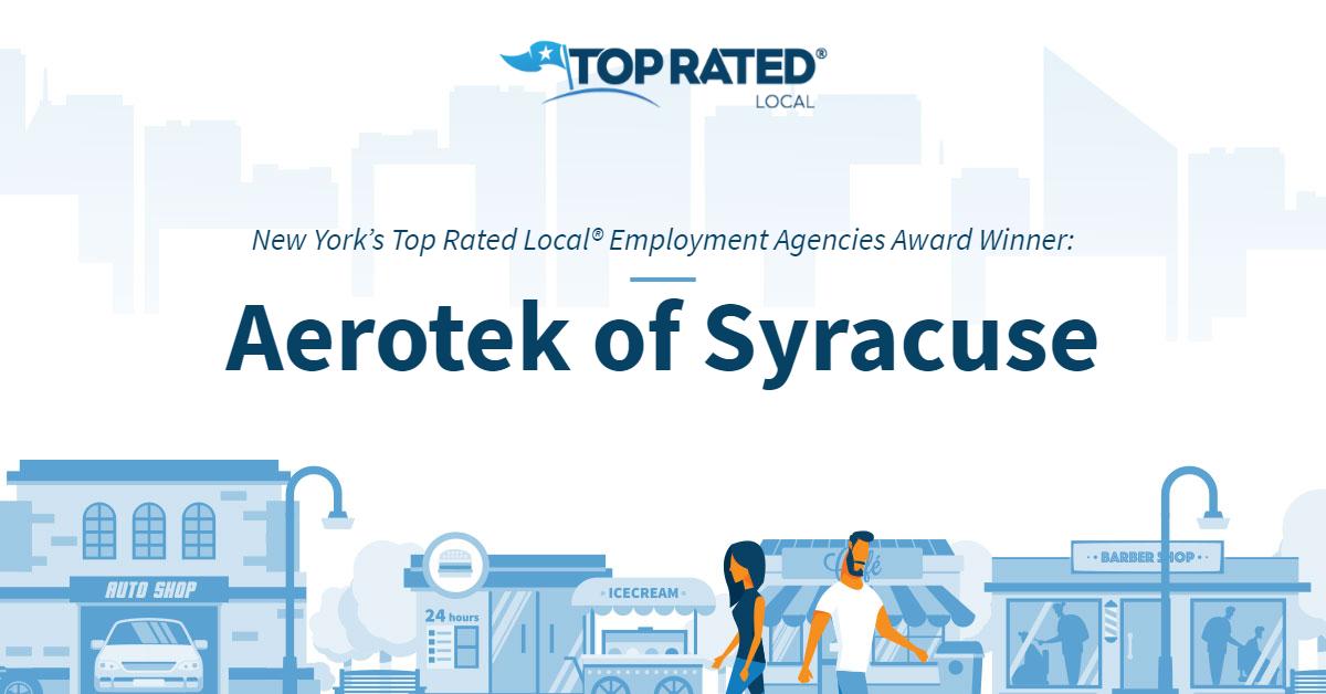 New York's Top Rated Local® Employment Agencies Award Winner: Aerotek of Syracuse