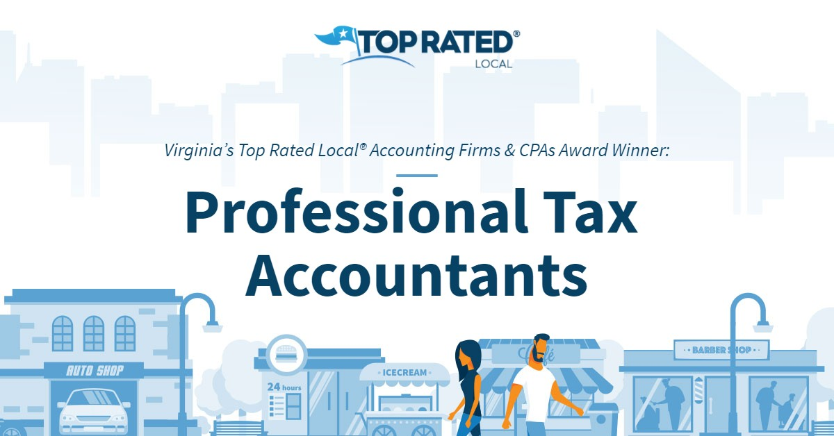 Virginia's Top Rated Local® Accounting Firms & CPAs Award Winner: Professional Tax Accountants