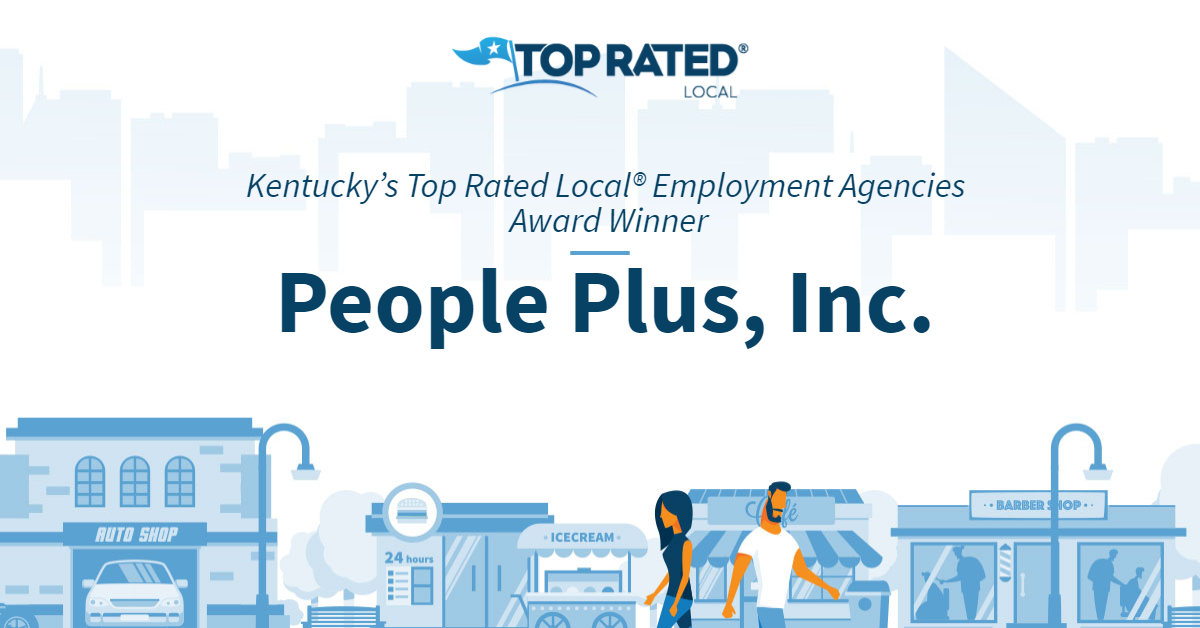 Kentucky's Top Rated Local® Employment Agencies Award Winner: People Plus, Inc.