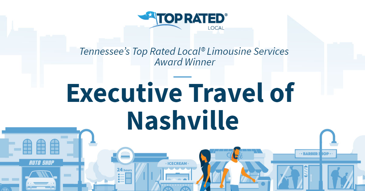 Tennessee's Top Rated Local® Limousine Services Award Winner: Executive Travel of Nashville