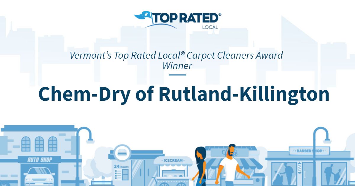 Vermont's Top Rated Local® Carpet Cleaners Award Winner: Chem-Dry of Rutland-Killington