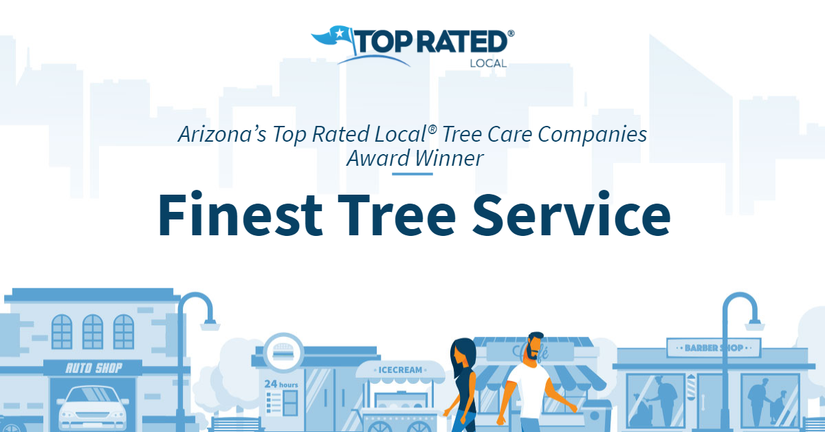 Arizona's Top Rated Local® Tree Care Companies Award Winner: Finest Tree Service