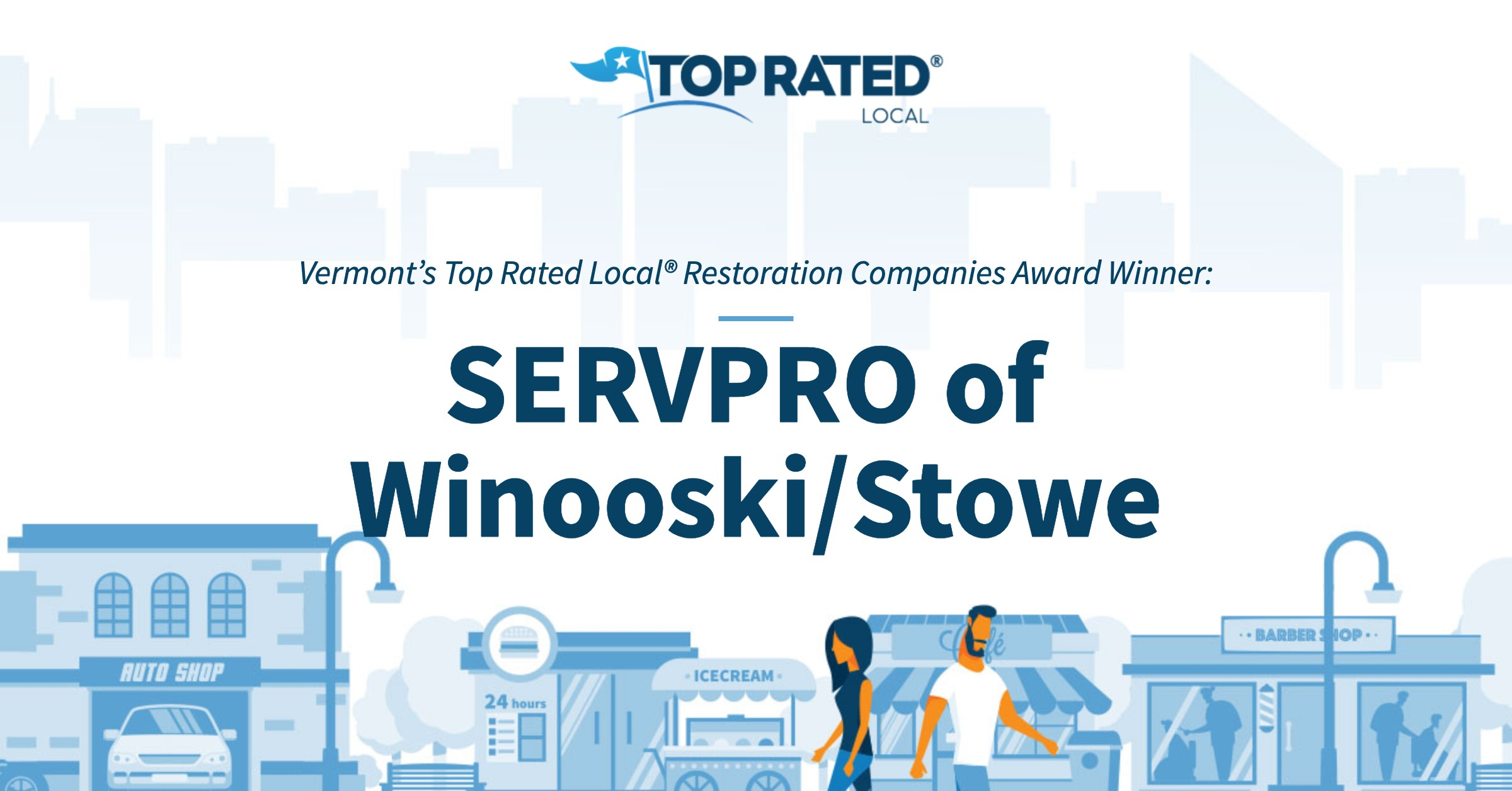 Vermont's Top Rated Local® Restoration Companies Award Winner: SERVPRO of Winooski/Stowe