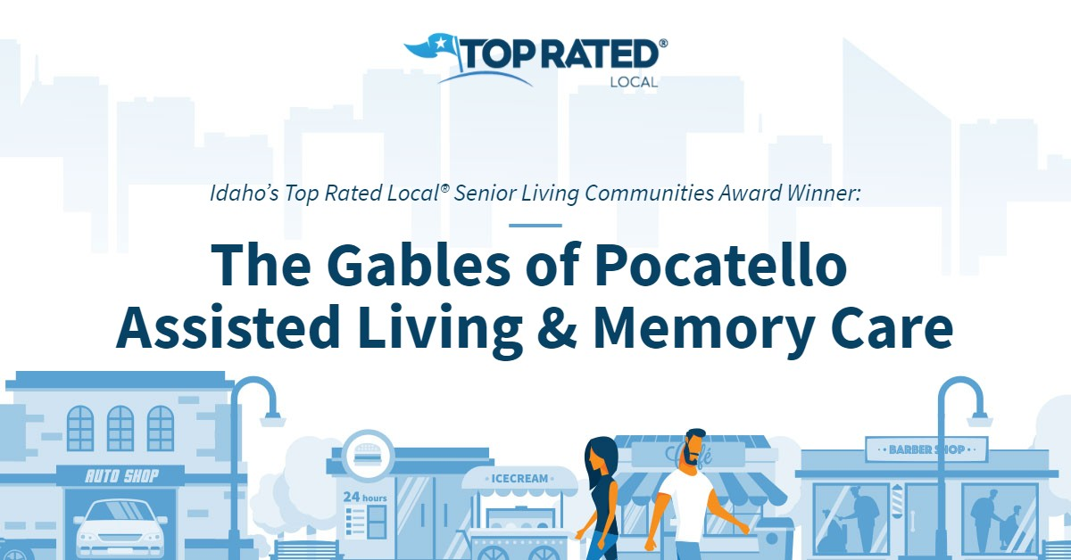 Idaho's Top Rated Local® Senior Living Communities Award Winner: The Gables of Pocatello Assisted Living & Memory Care