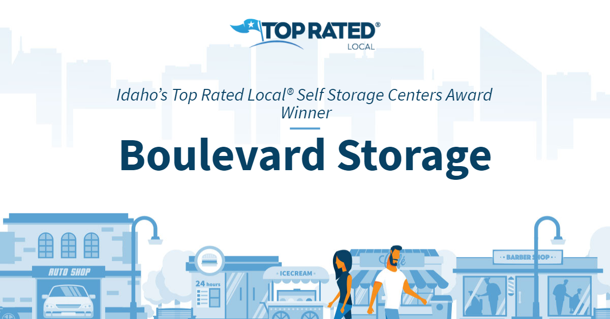 Idaho's Top Rated Local® Self Storage Centers Award Winner: Boulevard Storage