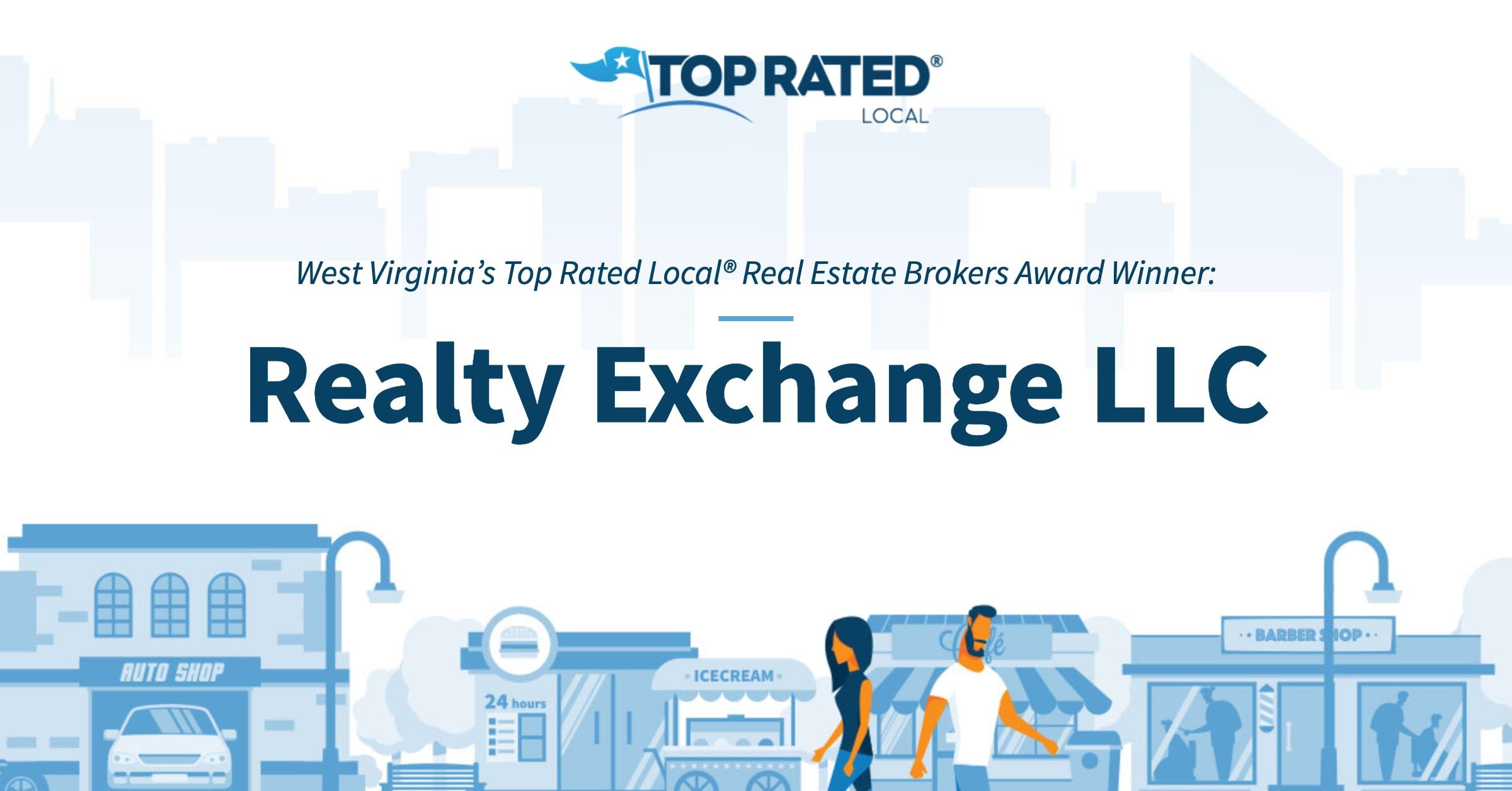 West Virginia's Top Rated Local® Real Estate Brokers Award Winner: Realty Exchange LLC