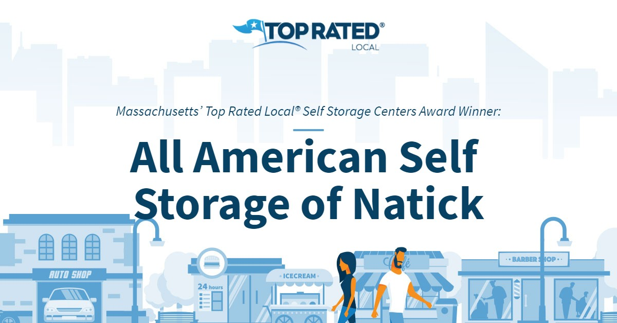 Massachusetts' Top Rated Local® Self Storage Centers Award Winner: All American Self Storage of Natick
