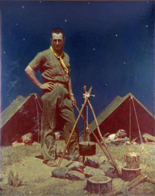 The Scoutmaster - Norman Rockwell 1954