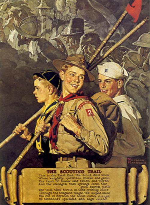 The Scouting Trail - Norman Rockwell 1939