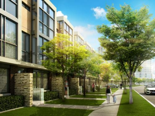 The Marquee Townhomes at Hurontario Street & Eglinton Avenue West, Mississauga, Ontario. Image 4
