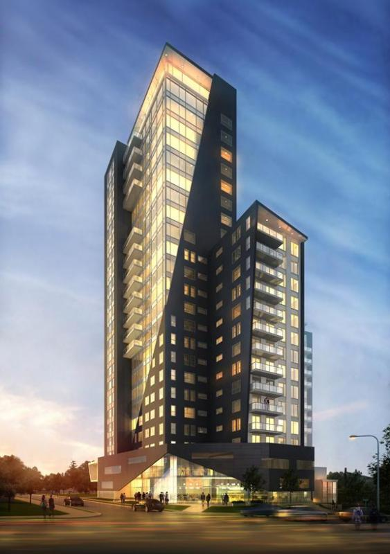 K2 Condominiums at 158 King Street North, Waterloo, Ontario. Image 1
