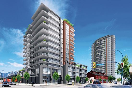 Proximity Condos at E 2nd Ave & Ontario St, Vancouver, British Columbia. Image 1