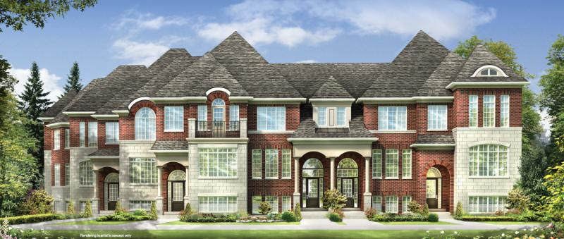 Little Rouge Townes at Major Mackenzie Drive East & Donald Cousens Parkway, Markham, Ontario. Image 1