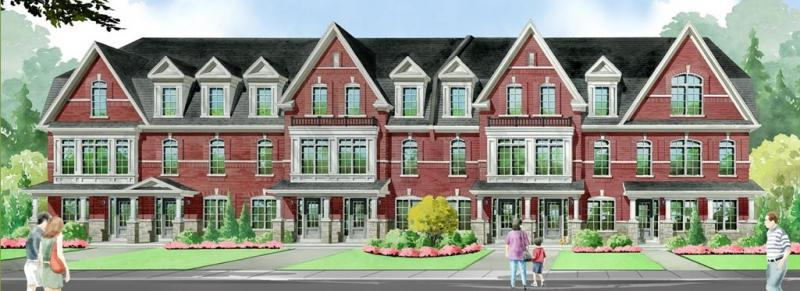 Elements Townhomes at Rossland Road East & Salem Road North, Ajax, Ontario. Image 3